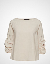 Soft Rebels Charnett Boatneck Bluse Langermet Creme SOFT REBELS