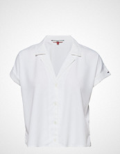 Tommy Jeans Tjw Modern Solid Blouse Bluse Kortermet Hvit TOMMY JEANS