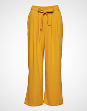 B.Young Bydenise Wide Pants - Vide Bukser Gul B.YOUNG