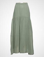 3.1 Phillip Lim Textured Silk Maxi Skirt Knelangt Skjørt Grønn 3.1 PHILLIP LIM