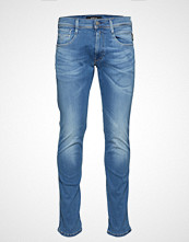 Replay Anbass Hyperflex Laserblast Slim Jeans Blå REPLAY
