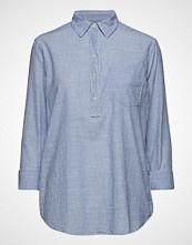 GAP Bf Shirt Popovr -Stp Langermet Skjorte Blå GAP