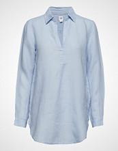 GAP Popover Tunic Linen Yd Langermet Skjorte Blå GAP