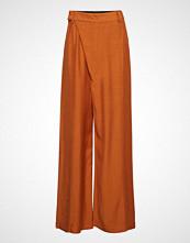 3.1 Phillip Lim Sateen Front Overlap Long Pant Vide Bukser Oransje 3.1 PHILLIP LIM