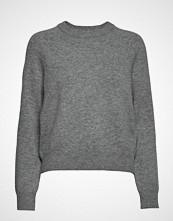Ganni Wool Knit Strikket Genser Grå Ganni