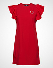 Karl Lagerfeld Ruffle Sleeve T-Shirt Dress Kort Kjole Rød KARL LAGERFELD