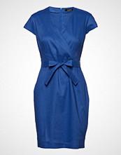 Taifun Dress Woven Fabric Knelang Kjole Blå Taifun