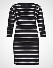 Violeta by Mango Striped Ribbed Dress Kort Kjole Svart VIOLETA BY MANGO
