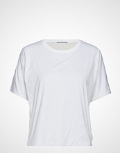 T by Alexander Wang Superfine Jersey S/S Crewneck Top T-shirts & Tops Short-sleeved Hvit T BY ALEXANDER WANG