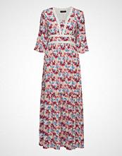 Taifun Dress Woven Fabric Maxikjole Festkjole Rosa TAIFUN
