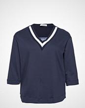 Violeta by Mango Mixed Cotton Sweatshirt T-shirts & Tops Long-sleeved Blå VIOLETA BY MANGO