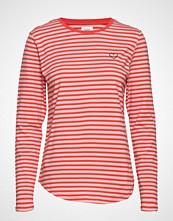 Saint Tropez Striped T-Shirt W Heart T-shirts & Tops Long-sleeved Rød SAINT TROPEZ