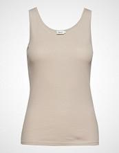 Filippa K Fine Rib Tank T-shirts & Tops Sleeveless Beige FILIPPA K