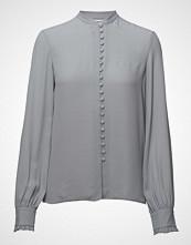 Filippa K Sheer Button Blouse Bluse Langermet Blå FILIPPA K