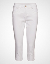 Cream Vita Capri Twill Jeans - Regular Fi Bukser Med Rette Ben Hvit CREAM