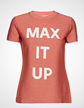 Max & Co. Damiere T-shirts & Tops Short-sleeved Rød MAX&CO.