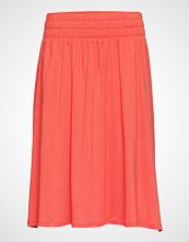Lexington Clothing Jenni Jersey Skirt Knelangt Skjørt Oransje LEXINGTON CLOTHING