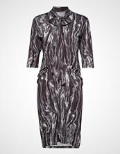 Diana Orving Tie Dress Knelang Kjole Grå DIANA ORVING