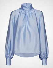 Stine Goya Eddy, 519 Textured Poly Bluse Langermet Blå STINE GOYA