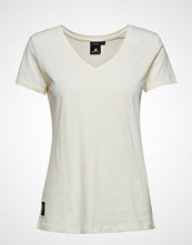 Didriksons Ebba Wns T-Shirt T-shirts & Tops Short-sleeved Creme DIDRIKSONS