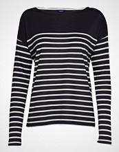 Gant O1. Light Weight Striped Top T-shirts & Tops Long-sleeved Svart GANT