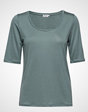 Filippa K Tencel Scoop-Neck Tee T-shirts & Tops Short-sleeved Blå FILIPPA K