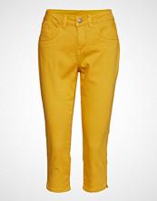 Cream Vita Capri Twill Jeans - Regular Fi Bukser Med Rette Ben Gul CREAM