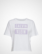 Calvin Klein Performance Relaxed Logo Ss Tee T-shirts & Tops Short-sleeved Hvit CALVIN KLEIN PERFORMANCE
