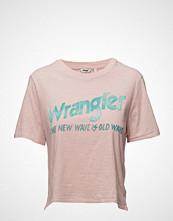 Wrangler Crop Tee T-shirts & Tops Short-sleeved Rosa WRANGLER