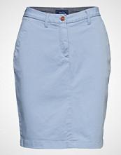 Gant O1. Classic Chino Skirt Knelangt Skjørt Blå GANT