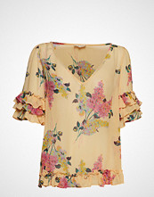 by Ti Mo Semi Couture Frill Top Bluse Kortermet Rosa BY TI MO