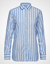 Morris Lady Neva Stripe Shirt Langermet Skjorte Blå MORRIS LADY