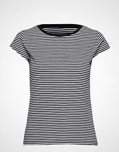 Mads Nørgaard Organic Favorite Stripe Teasy T-shirts & Tops Short-sleeved Svart MADS NØRGAARD