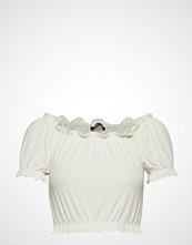 Gina Tricot Bianca Frill Top T-shirts & Tops Short-sleeved Hvit GINA TRICOT