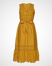 Esprit Casual Dresses Light Woven Knelang Kjole Gul ESPRIT CASUAL