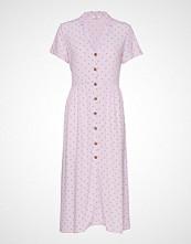 Envii Ennaples Ss Dress Aop 6651 Knelang Kjole Rosa ENVII