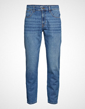 Mango Man Tapered Fit Medium Wash Soft Jeans Slim Jeans Blå MANGO MAN