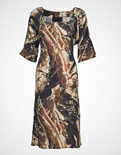 Diana Orving Square Neck Dress Knelang Kjole Multi/mønstret DIANA ORVING