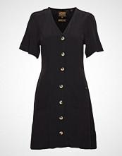Superdry Darcy Button Through Dress Kort Kjole Svart SUPERDRY