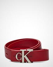 Calvin Klein J 3cm Mono Leather B Belte Rød CALVIN KLEIN