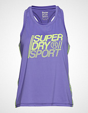 Superdry Sport Core Loose Vest T-shirts & Tops Sleeveless Lilla SUPERDRY SPORT