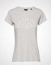 Gant D1. Mixed Graphics Ss T-Shirt T-shirts & Tops Short-sleeved Grå GANT