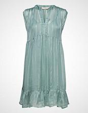Rabens Saloner Lurex Stripe S Sl Short Dress Kort Kjole Blå RABENS SAL R