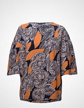 Marimekko Kastanja Amur Shirt Bluse Kortermet Multi/mønstret MARIMEKKO