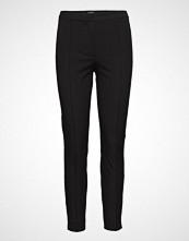 Selected Femme Slfilue Mw Pintuck Slit Pant Black B Bukser Med Rette Ben Svart SELECTED FEMME