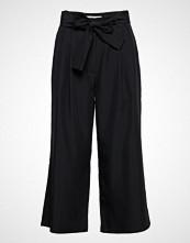 Calvin Klein Drapey Tencel Straig Vide Bukser Svart CALVIN KLEIN JEANS