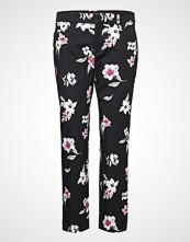Banana Republic Sloan Floral Brushed Print Bukser Med Rette Ben Svart BANANA REPUBLIC