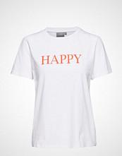 B.Young Bypandina Happy Tshirt - T-shirts & Tops Short-sleeved Hvit B.YOUNG