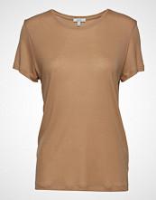 Dagmar Upama T-shirts & Tops Short-sleeved Beige DAGMAR