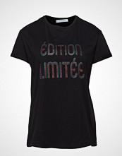 Violeta by Mango Glitter Message T-Shirt T-shirts & Tops Short-sleeved Svart VIOLETA BY MANGO